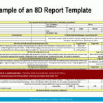 8d Report Template Excel Free Download New